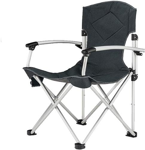 HYXI-Chaise Pliante Chaise Se Pliante à Dossier élevé, Fauteuil, Chaise portative de Croquis de Camping de pêche de Plage de Randonneur (Noir) Charge Maximum 120KG