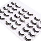 Wleec Beauty Dramatic Eyelash Pack Handmade 3D Faux Mink False Lashes 15 Pairs Long Crisscross Fake Eyelashes #3D/FM16