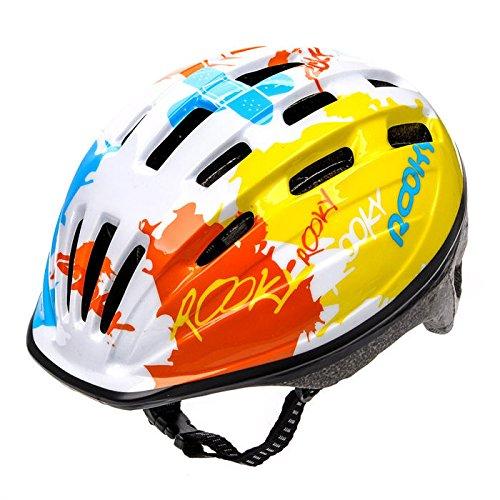 Meteor Casco Bici Ideale per Bambini e Adolescenti Caschi Perfetto per Downhill Enduro Ciclismo MTB Scooter Helmet Ideale per Tutte Le Forme di attività in Bicicletta Helmo HB6-2 (S(48-52), Bianco)