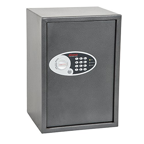 Phoenix SS0804E Vela Home & Office Safe Möbeltresor Kompaktsafe mit Elektronikschloss, HxBxT: 50 x 35 x 31 cm 16 kg