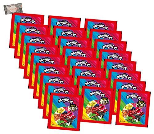 Panini Miraculous Ladybug Sticker - Miraculous Super Heroez Team (2021) - 25 Tüten - Miraculous Sammelsticker + stickermarkt24de Gum