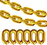 30PCS Gold Chain Balloons - 80s 90s Party Supplies Cosplay Props - Retro Hip Hop Birthday/Graduation Party Decorations Foil Balloons(16 inch)