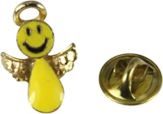 6030272 Happy Smiley Face Angel Lapel Pin Christian Tie Tack Brooch Don't Wor.