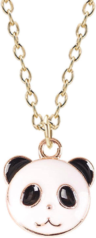 Naswi Panda Bear Necklace Cute Cartoon Animal Pendant Necklace Children's Collar Necklace Gift