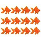 Balacoo 20 Piezas de Peces Artificiales de Peces de Acuario Plástico Realista Artificial en Movimiento Flotante Pez Dorado Falso Ornamentos de Peces para Acuario Tanque de Peces