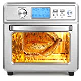 NICTEMAW Air Fryer, 21QT Air Fryer Oven, Family Rotisserie Oven, 1700W Electric Air Fryer Toaster Oven,16-in-1 Presets for Baking, Combo with LED Display & Temperature/Time Dial,Roaster, Broiler, Rotisserie, Dehydrator, Pizza Oven.