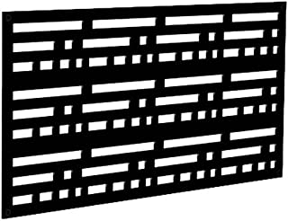 YardSmart 73004796 Decorative Screen Panel 2X4-Morse, Black