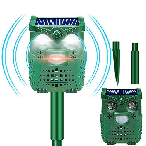 Everenty - Ahuyentador de Animales Solar con USB