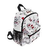 YXDEW Schultasche Schule Rucksack Große Kapazität Schultasche Leinwand Casual Travel Daypack...