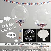 AP クリアバルーン ナイロンフィルム 約45cm(18インチ) HappyParty AP-UJ0212-5P 入数:1セット(5個)