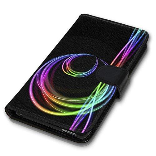 wicostar Book Style Handy Tasche - Design MV-92 - kompatibel mit Huawei Ascend Y550 - Cover Hülle Schutz Hülle Etui Schutzhülle