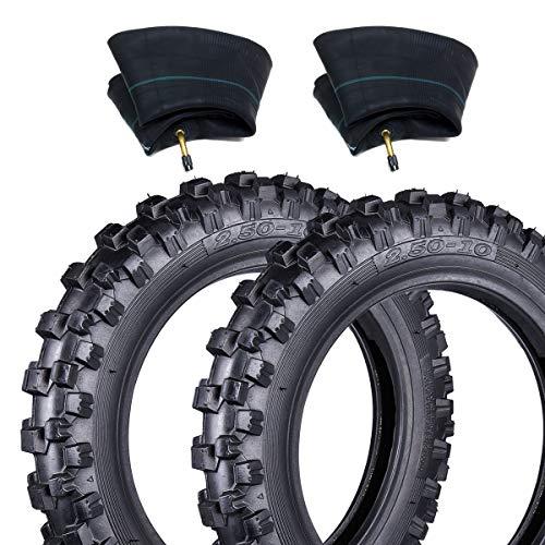 Wingsmoto 2.50 – 10 Reifen (10 Zoll), Typ Schlauch vorne/hinten, Modell Motocross Geländewagen + passende Schläuche (TR87)