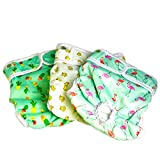 Pet Magasin Reusable Dog Diapers Sanitary Wraps, 3-Pack, Trending, Small