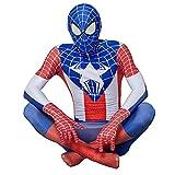 LQ-ZHUOJIAO Adultos Spiderman Jumpsuit Capitán América Cosplay Disfraz Niño Halloween Body Disfraces Traje Lycra Spandex Zentai,Blue-Adult M (165~175CM)