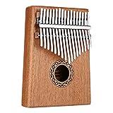 Tragbare Daumenklavier Neue 17 Key Kalimba Afrikanische Massivholz-Daumen-Finger-Piano Sanza Mbira Calimba Spielen mit Gitarre Holz Musikinstrumente (Farbe: Mahagoni Farbe) (Color : Mahogany Color)