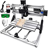 VEVOR CNC Machine 3 Axis CNC 3018 Router Kit GRBL Control with 5500mW Laser Powe Plastic Acrylic PCB PVC Wood Carving Milling Engraving Machine(Working Area 300 x 180 x 45mm)