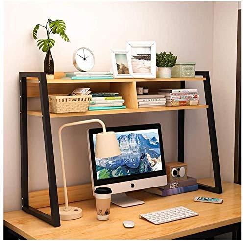 Skrivbordshyllor trä skrivbord bokhylla uppvisning hylla bänkskiva bokhylla kontorsmaterial skrivbord organisering förvaringsställ heminredning stativ hylla skrivbord förvaring organisatör (färg: Vit Storlek: 75 cm) – 55 cm_brun