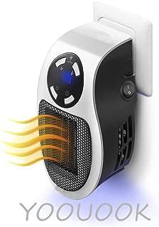 Calentadores eléctricos,De Ventilador Termostato Silencioso,De Ventilador Termostato Silencioso Portátil Pequeño Portátil,Adecuado para el otoño y el invierno dormitorio de oficina-500W (Blanco)