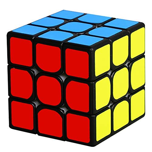 Beyong 3x3 Magnetic Speed Cube 3x3x3 Sticker Puzzle Black (Mr.M Edition)