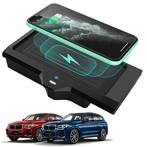 Braveking1 Caricatore Wireless Auto per Auto 10W Rapida Ricarica 3 Bobine Telefono Pad per BMW X3 2018 2019 2020 BMW X4 2019 2020 Pannello degli Accessori della Console Centrale per iPhone Samsung
