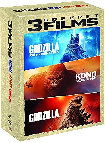 Coffret 3 films : godzilla ; godzilla II - roi des monstres ; kong - skull island