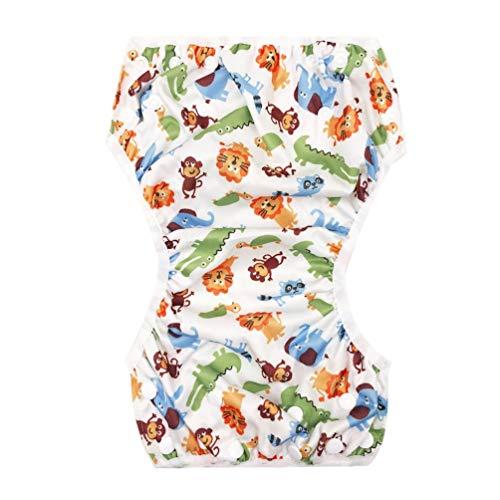 Wasbare Baby Verstelbare Zwemluier Zwembadbroek Waterdichte Zwemluier Veelkleurig Gemengd