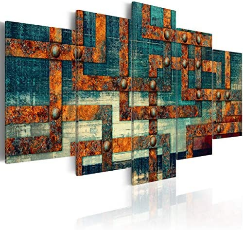 Blue Maze Absract Painting Modern Wall Art Canvas Office Decoration Pictures Artwork product image
