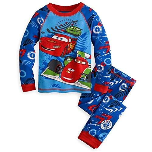 Disney Store Cars Lightning McQueen Boy 2PC Long Sleeve Pajama Set Size 7