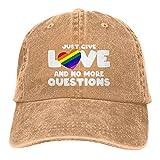 Gymini Just Give Love and No More Preguntas Sombreros Algodón Lavable Adulto Gorra de béisbol Ajustable para Hombre Mujer