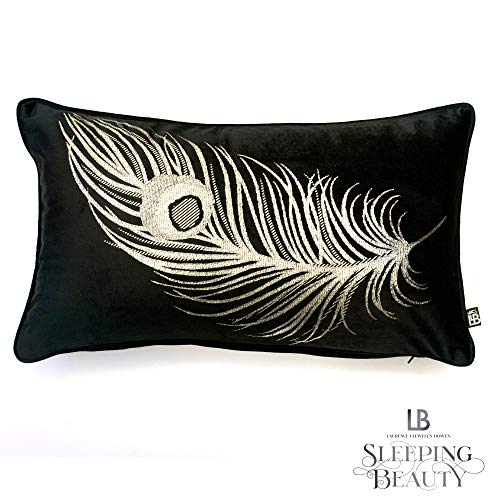 Laurence Llewelyn-Bowen - Dandy - Luxury Velvet Filled Cushion - 30x50cm in Black