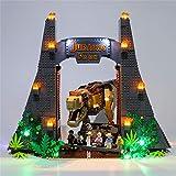 SENG Juego de iluminación LED para Jurassic World Jurassic Park T. rex Rampage modelo de bloques de construcción, compatible con Lego 75936 (modelo no incluido)