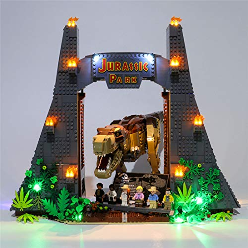 LesDiy Kit di Illuminazione a LED per Lego Jurassic Park: T. Rex Rampage 75936 (Solo LED Incluso, Nessun Kit Lego)