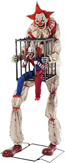 Seasonal Visions Animated Cagey The Clown with Caged Clown