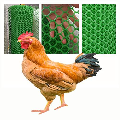 Plastic Chicken Netting,mesh Green Prismatic Poultry Netting Hex Garden Lawn Pet Fence Net Hard Plastic Trellis Chicken Deer Netting Anti-falling Storage Anti-theft Isolation Encryption Plastic Nets