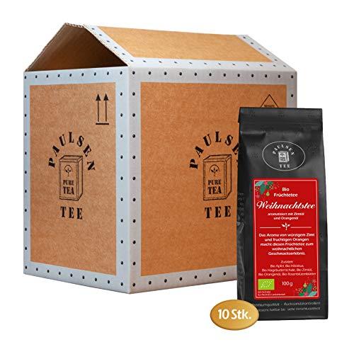 Bio Weihnachtstee 10 x 100g (29,95 Euro / kg) Paulsen Tee Früchtetee rückstandskontrolliert