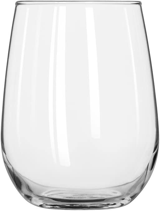Libbey Stemless 17 oz White Glass Don't miss the campaign Import Wine