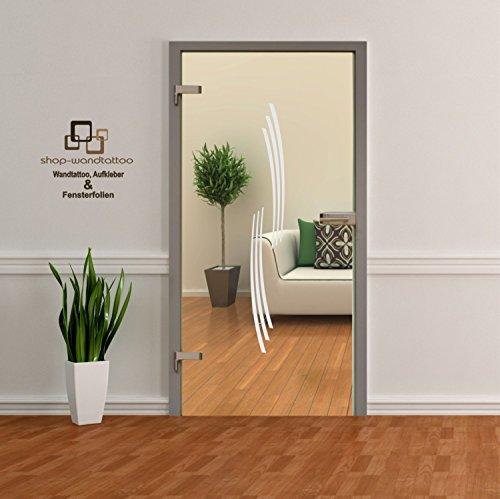 rs-interhandel® Glastür Aufkleber Tattoo Folie Glasdekor Fensterfolie Sichtschutz Wohnzimmer, Bad, Küche oder für alle Glasflächen Sichtschutzfolie für Türen GDT002
