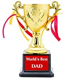 AARK INDIA ABS DAD Birthday Gift, Anniversary Gift Trophy (Gold, Brown) - PC00233