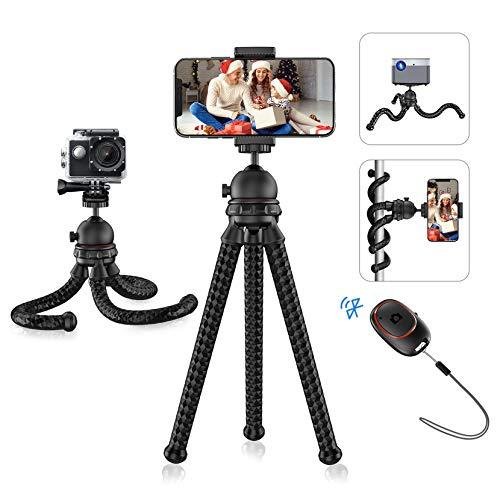 Mini Stativ, Mpow flexibles Handy Stativ mit Bluetooth 5.0-Fernauslöser und 360 ° -Drehung, tragbarer Kamerastativ für Vlog, kompatibel mit Handy, Kamera, GoPro, Stativ für iPhone 12 pro max, Samsung