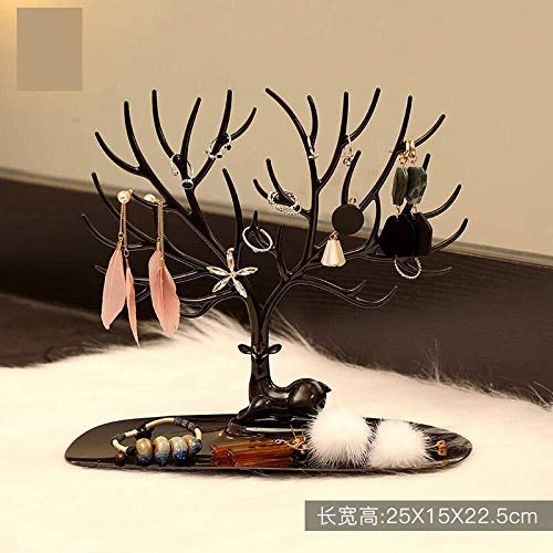 Tangrong Schmuck Aufbewahrungsbox, Ohrring-Armband-Halsketten-Display-Regale, europäische Prinzessin Schlafzimmer Wohnzimmer Veranda Dekoration Schmuck Aufbewahrungsbox, Zwei Farben erhältlich