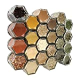 Gneiss Spice Everything Spice Kit: 24 Magnetic Jars Filled with Standard Organic Spices/Hanging Magnetic Spice Rack (Small Jars, Silver Lids)