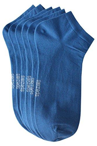 Weri Spezials Hommes Sneakers Chaussettes x3 Bleu Fonce 39-42
