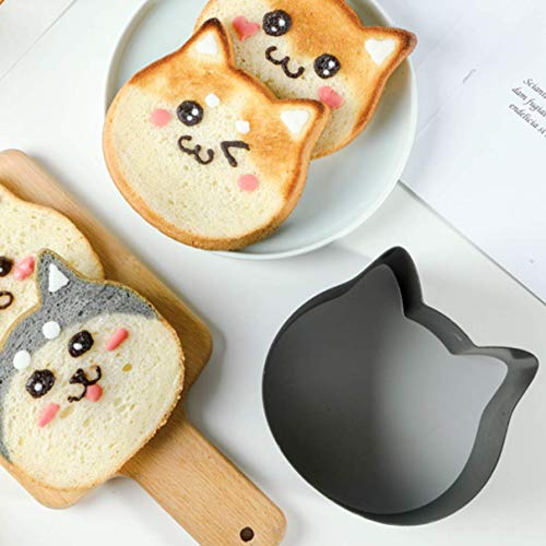 Cat Face Cake Pan, Bread Mold with Cat Face Stancil