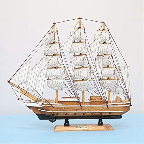 JANEFLY 50 cm artesana Modelo de velero decoracin artesanas de Madera Negocio Creativo Regalo de Apertura del hogar Barco de Vela