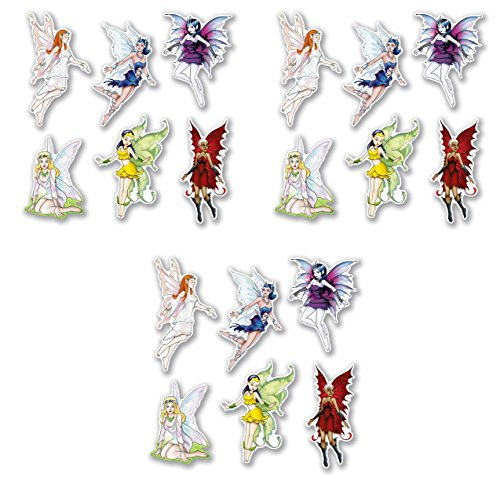 Beistle Fairy Cutouts 18 Piece Princess Decorations, Fantasy Party Supplies, 8.75