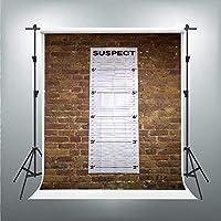 HD警察ラインナップ背景マグショット容疑者壁写真背景ビニール5x7ft写真撮影小道具QQPH116