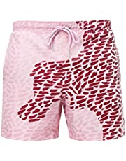 RZKJ Kleurwisselende zwembroek voor heren, sportbroek, korte strandbroek voor mannen, watergeving, verkleuring, strandbroek, jongens, temperatuurgevoelige zwembroek, sneldrogend, shorts