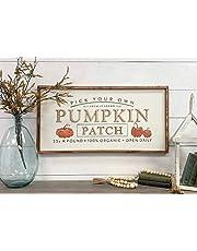 Ced454sy Höst dekor D skyltar pumpa lapp plocka din egen pumpa lapp höst dekor halloween dekor D träskylt väggkonst platta