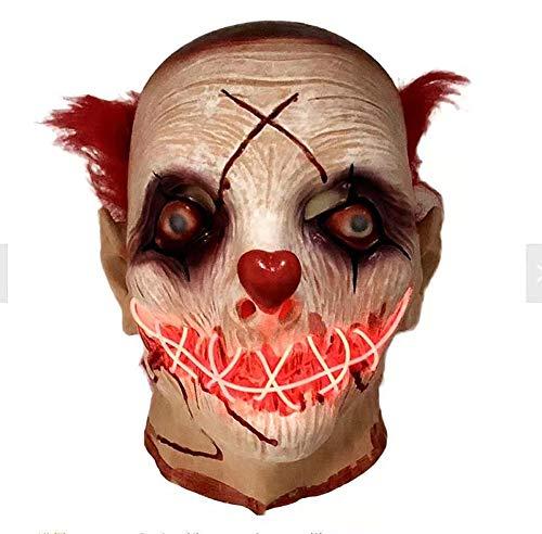 Halloween Scary Mask Glow LED leuchten Flash Maske gruselig Cosplay Kostüme Party