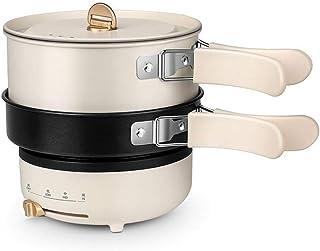 Cocina eléctrica multifuncional 1.2L cocina eléctrica plegable olla eléctrica olla arrocera multifunción tipo dividido mini olla portátil de viaje